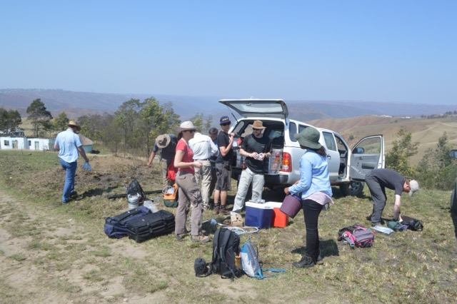 Bongwana fault sorting logistics for a day in the field